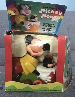 Mickey Mouse Walt Disney's Battery Operated Mystery Action Pets No. 811 Vintage