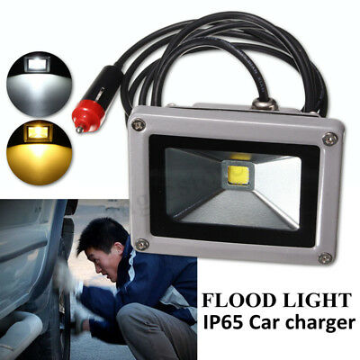 10W 12V LED Flood Spot Light Work Lamp Car Charger Waterproof For Camping