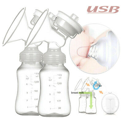 Double Intelligent Electric Handfree Breast Pump Baby Feeder USB Automatic