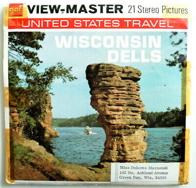 """3x VIEW MASTER 3D REEL """" WISCONSIN DELLS """" 
