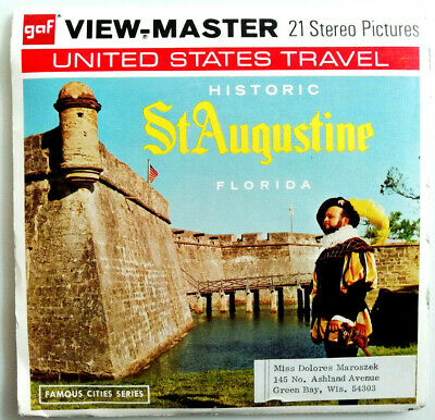 """3x VIEW MASTER 3D REEL """" St. AUGUSTINE 