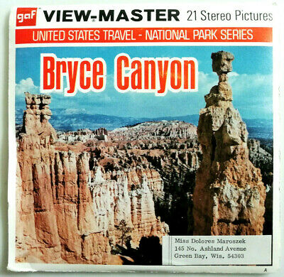 """3x VIEW MASTER 3D REEL """" BRYCE CANYON """" 