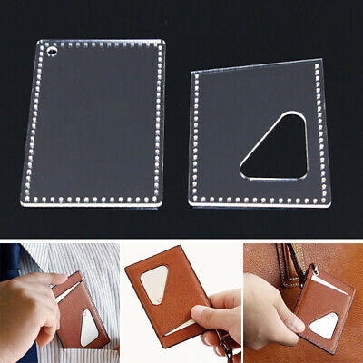Leather Craft Template Set For Access Card Bag Pattern Stencil Acrylic Practical