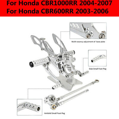 CNC Billet Rearsets Rear Sets For Honda CBR600RR 2003- 2005 2006 CBR1000RR 04-07