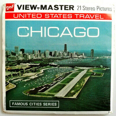 """3x VIEW MASTER 3D REEL """" CHIGAGO """" 