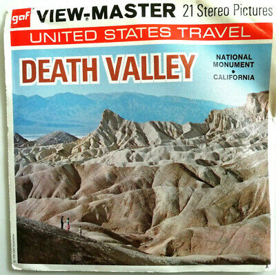 """3x VIEW MASTER 3D REEL """" DEATH VALLEY 