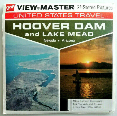 """3x VIEW MASTER 3D REEL """" HOOVER DAM and LAKE MEAD 