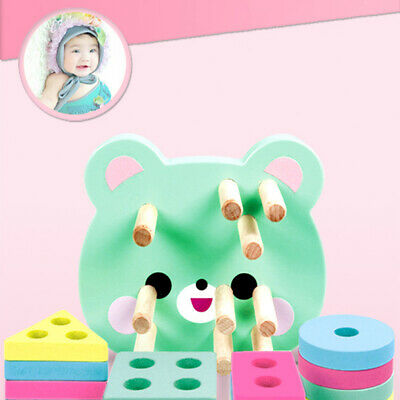 Baby Bear Matching Intelligence Building Color Geometry Shape Set Toys Puzzle Z