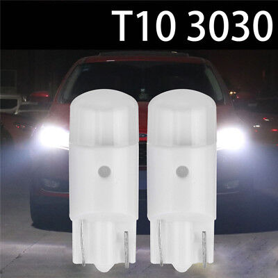 2x T10 194 168 W5W Wedge 3030-SMD LED White Bulbs Interior Map Dome Light