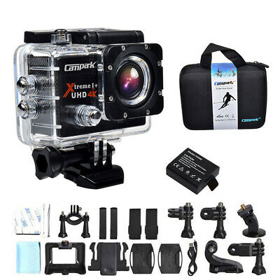 Campark 4K Action Cam HD 16MP WiFi Sports Camera Impermeabile 30M Remote Control