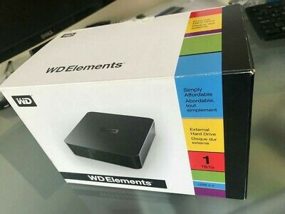 WD Elements 1TB External Hard Drive - Used & Full Working Order