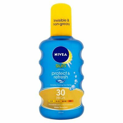 Nivea Sun Protect&Refresh High Spf 30 Water Resistant 200Ml. Brand New