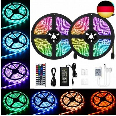 SUNIX LED STREIFEN Set, 2M Strip lights mit 60 RGB LEDs SMD