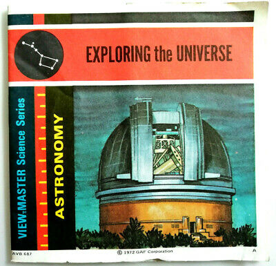 """3x VIEW MASTER 3D REEL """" EXPLORING the UNIVERSE """" _ SCIENCE SERIES 