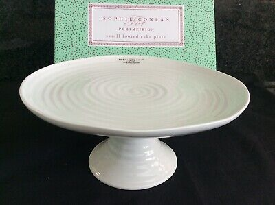 Sophie Conran Portmeirion Small Footed Cake Stand White New Boxed