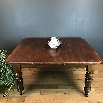 Antique Extending mahogany Dining Kitchen table Victorian Wind Out Miller & Sons