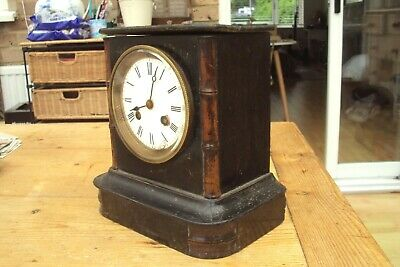 Antique Wooden Mantel Clock For Spares Or Repair.