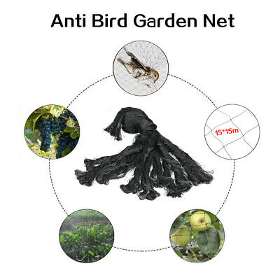 15*15m Anti Bird Net Garden Netting Net for Bird Poultry Aviary E4U8