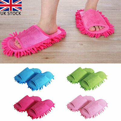 1 Pair Mop Slippers Microfibre Floor Shoe Cleaning Mop Slippers Dust Lazy Polish