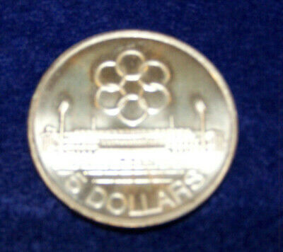 1973 Singapore Seventh Seap Games Silver 5 Dollars Bu