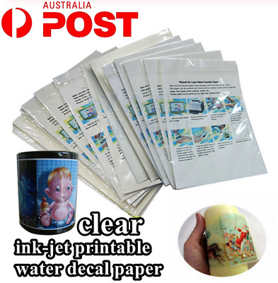 A4 Inkjet Printer Transfer Paper Water Slide Decor Transfer Film