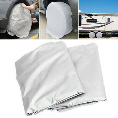 Set Of 2 Heavy Duty RV Car Wheel Tire Covers For Truck Trailer Camper Motor Home