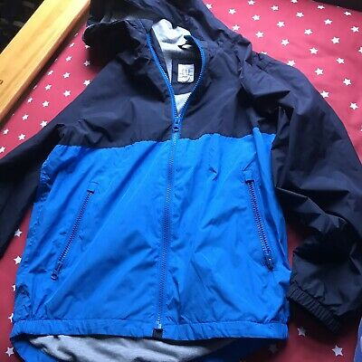 Gap Kids Colourblock Blue and Navy  Jersey Lined Winderbuster jacket size L