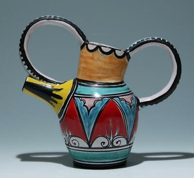 Handpainted Pottery Pitcher 1950s      #18011