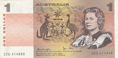 1 Dollar Very Fine Banknote From Australia 1983 Pick-42