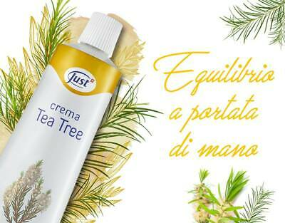 JUST CREMA TEA TREE 100 ML - contro eczema, psoriasi, acne, pelle grassa brufoli