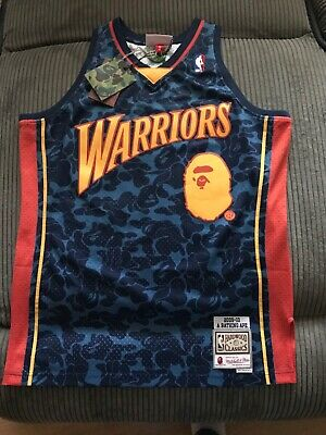 ade4620ac88 Brand New Authentic Bape X Mitchell & Ness Golden State Warriors Jersey