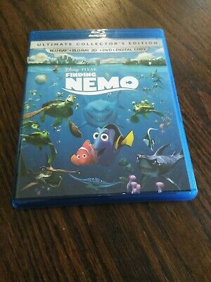 Finding Nemo 3D Blu-Ray 5 Disc  Dvd) Ultimate Collector's Like New Never Watched