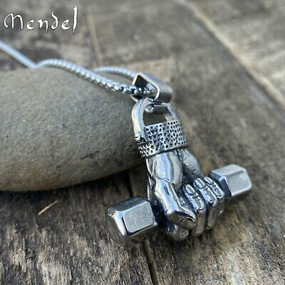 MENDEL Mens Boxing Necklace Pendant Biker Stainless Steel Boxer Glove Jewelry