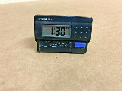 Casio PQ-10 LCD Travel Digital Alarm Clock