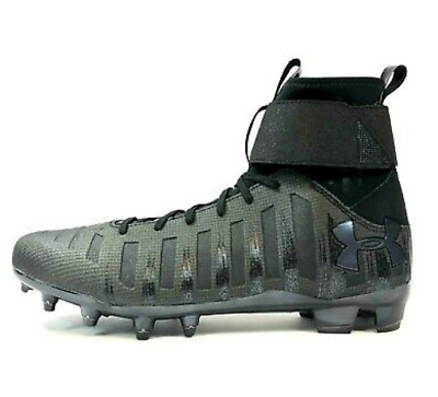 New Under Armour MC Cam Newton Football Cleats C1N 1289763-001 Black Shoes