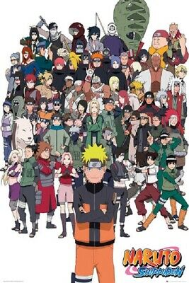 NARUTO SHIPPUDEN POSTER, Characters Limited Version, Size 24x36