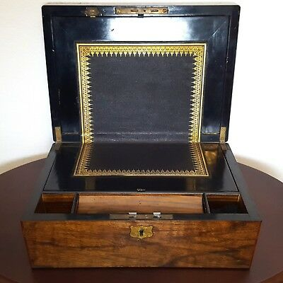 1904 Walnut Writing Slope and Contents