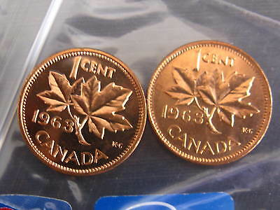 Canada Rare Varieties Set of 2 Coins Hanging 3 And Plain Variety.