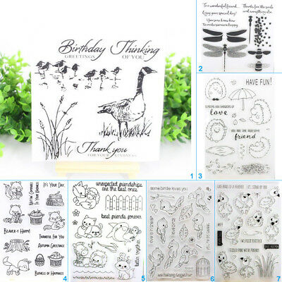 Animals Friend Silicone Transparent Clear Stamps DIY Scrapbook Embossing Card