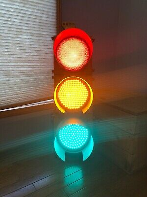 Retired Traffic Signal Light With Shades, LED Solid Lit Cave LFE South Carolina