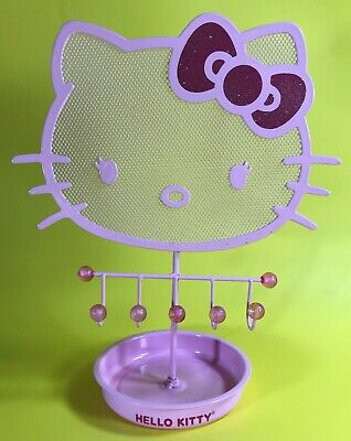 312de35d0 Sanrio Hello Kitty Pink Glitter Bow Earring Tree Jewelry Display Stand  Holder