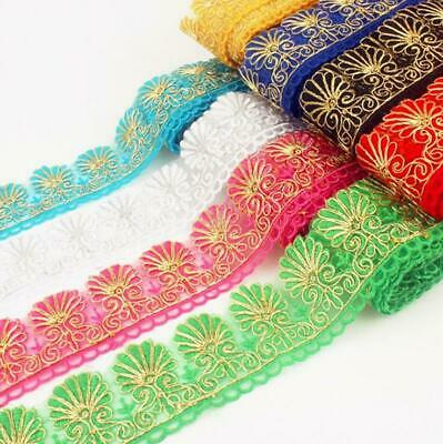 1 Yards Embroidery Flower lace Clothing accessories DIY Trims Curtain crafts
