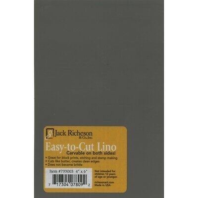 "Richeson Easy To Cut Unmounted Linoleum 4x6-inch Sheets  - 4X6"" Sheets"