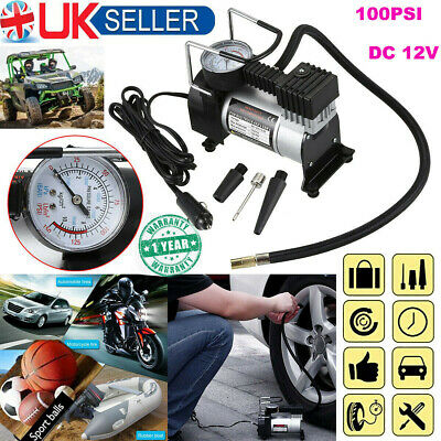 12v Heavy Duty Car Air Compressor 100PSI Tyre Deflator Portable Inflator Pump U1