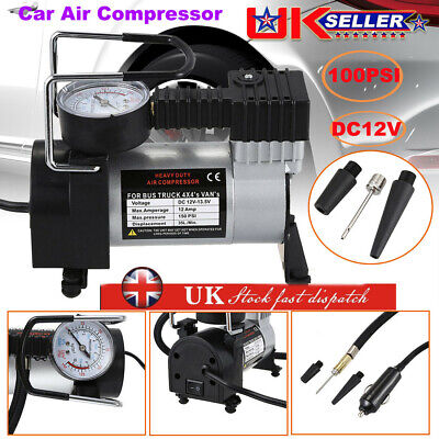 Heavy Duty 12V Car Air Compressor 100Psi Tyre Deflator Portable Inflator Pump U2