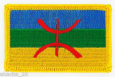 Patch Ecusson Brode Drapeau Kabylie Kabyle Insigne Thermocollant Neuf Patche