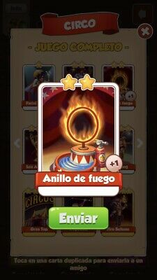 Coin master Fire Ring Card In Circus Set