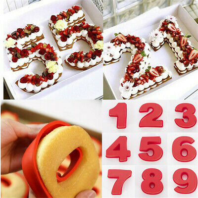 Silicone Fondant Pastry Mold Cake Number Mould Baking Making Tool Decor DIY Gift