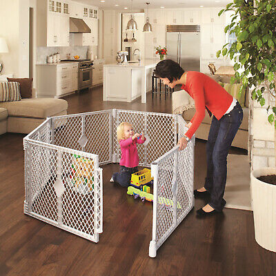 6 Panel Superyard Playard Baby Gate Fence Indoor Outdoor Portable North States