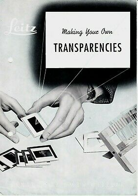 Genuine 1954 Leitz Leica Brochure Making Your Own Transparencies 3 Pages